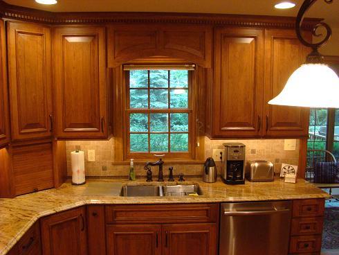 Window kitchen cabinets for Window under kitchen cabinets